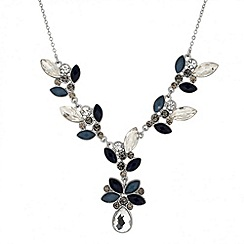 Butterfly by Matthew Williamson - Designer mixed blue stone cluster drop necklace