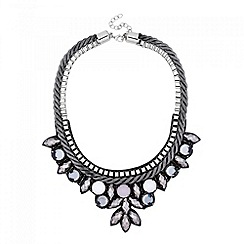 Butterfly by Matthew Williamson - Designer stone drop grey cord necklace
