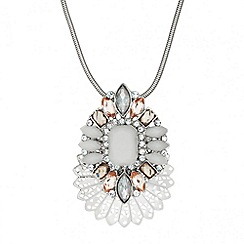 Butterfly by Matthew Williamson - Designer opalesque mixed stone pendant necklace
