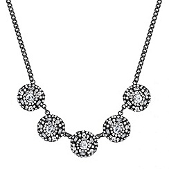 Butterfly by Matthew Williamson - Designer hematite stone link necklace