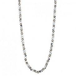 Butterfly by Matthew Williamson - Designer silver facet bead long rope necklace
