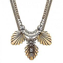 Butterfly by Matthew Williamson - Designer opalesque triple fan drop necklace