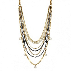 Butterfly by Matthew Williamson - Designer pearl and chain multirow necklace