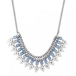Butterfly by Matthew Williamson - Designer blue stone wrap multi row necklace