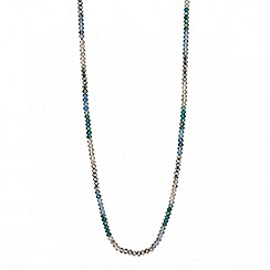 Butterfly by Matthew Williamson - Designer mixed blue beaded long rope necklace