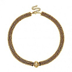 Butterfly by Matthew Williamson - Designer grey crystal and gold million ball necklace