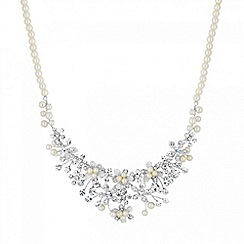 Butterfly by Matthew Williamson - Designer online exclusive crystal flower and pearl necklace