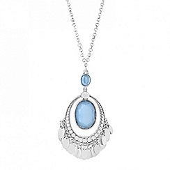 Butterfly by Matthew Williamson - Designer blue oval and mini coin drop necklace