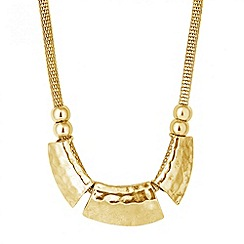 Butterfly by Matthew Williamson - Designer triple textured gold panel necklace