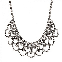 Butterfly by Matthew Williamson - Designer hematite diamante loop necklace