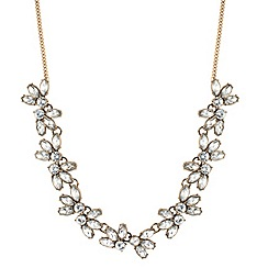 Butterfly by Matthew Williamson - Designer crystal cluster leaf link necklace