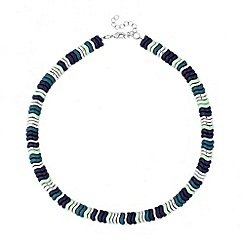 Butterfly by Matthew Williamson - Designer blue beaded zig zag necklace
