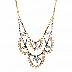 Butterfly by Matthew Williamson - Designer statement diamante multi row necklace