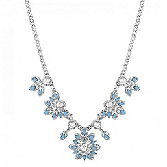 Butterfly by Matthew Williamson - Designer statement navette flower drop necklace