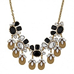 Butterfly by Matthew Williamson - Designer jet and crystal statement drop necklace