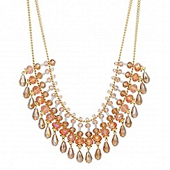 Butterfly by Matthew Williamson - Designer multi row pink beaded necklace
