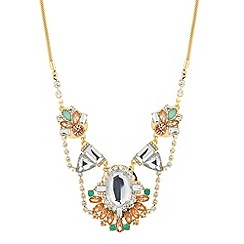 Butterfly by Matthew Williamson - Designer cluster stone drop necklace