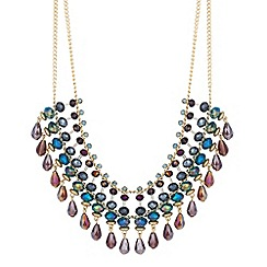 Butterfly by Matthew Williamson - Designer purple beaded multi row necklace