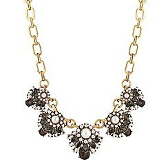 Butterfly by Matthew Williamson - Designer pearl and crystal five drop necklace