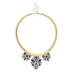 Butterfly by Matthew Williamson - Designer blue mixed cluster triple drop necklace