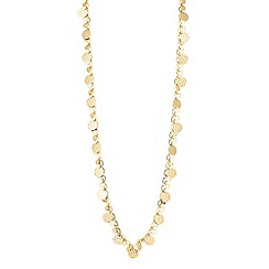 Butterfly by Matthew Williamson - Designer textured coin drop long necklace