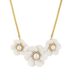Butterfly by Matthew Williamson - Designer triple pearl 3d flower necklace