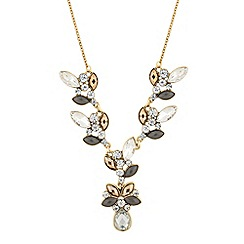 Butterfly by Matthew Williamson - Designer statement cluster y drop necklace