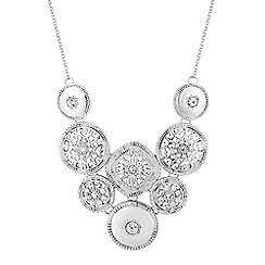 Butterfly by Matthew Williamson - Designer silver filigree multi coin drop necklace