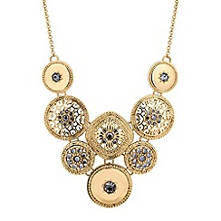 Butterfly by Matthew Williamson - Designer gold filigree coin drop necklace