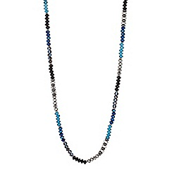 Butterfly by Matthew Williamson - Designer mixed blue facet bead long necklace