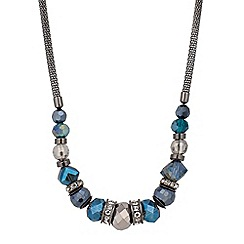 Butterfly by Matthew Williamson - Designer mixed blue bead mesh chain necklace