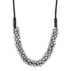 Butterfly by Matthew Williamson - Designer hematite facet bead cord necklace