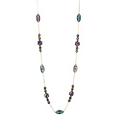 Butterfly by Matthew Williamson - Designer mixed purple bead long necklace