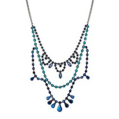 Butterfly by Matthew Williamson - Designer diamante peardrop triple row necklace