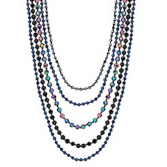 Butterfly by Matthew Williamson - Designer mixed bead multi row necklace