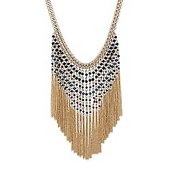 Butterfly by Matthew Williamson - Designer beaded tassel drop necklace