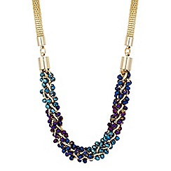 Butterfly by Matthew Williamson - Designer mixed bead chain twist necklace