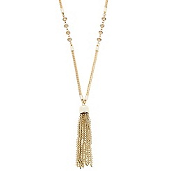 Butterfly by Matthew Williamson - Designer beaded tassel and snake chain necklace