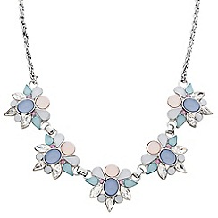 Butterfly by Matthew Williamson - Designer pastel cluster stone link necklace