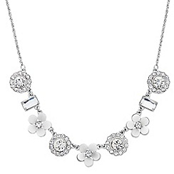 Butterfly by Matthew Williamson - Designer crystal and shell effect flower necklace