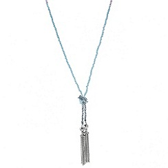 Butterfly by Matthew Williamson - Designer pastel bead tie tassel necklace