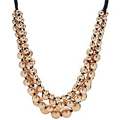 Butterfly by Matthew Williamson - Designer gold ball bead multirow necklace