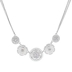 Butterfly by Matthew Williamson - Designer filigree silver coin drop necklace