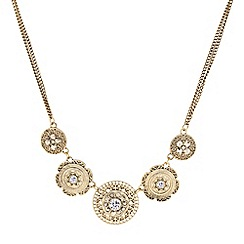 Butterfly by Matthew Williamson - Designer filigree gold coin drop necklace