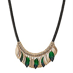 Butterfly by Matthew Williamson - Shell and metal leaf necklace