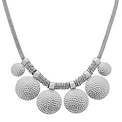 Butterfly by Matthew Williamson - Designer textured silver coin drop necklace