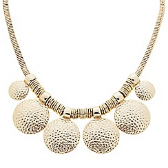 Butterfly by Matthew Williamson - Designer textured gold coin drop necklace