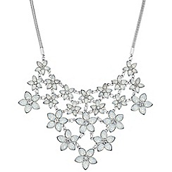 Butterfly by Matthew Williamson - Designer opalesque graduated flower necklace