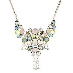 Butterfly by Matthew Williamson - Designer multicoloured statement cluster crystal necklace
