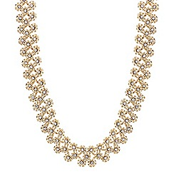 Butterfly by Matthew Williamson - Gold crystal flower necklace